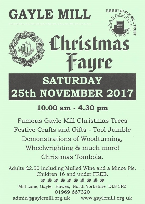 Gayle Mill Christmas Fayre 2017